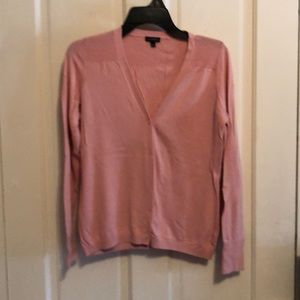 Talbots mauve pink cardigan sweater like new!!